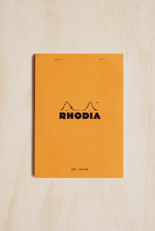 Rhodia - Pad #16 - Top Stapled - Plain - A5 - Orange