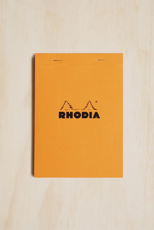 Rhodia - Pad #16 - Top Stapled - 5x5 Grid - A5 - Orange