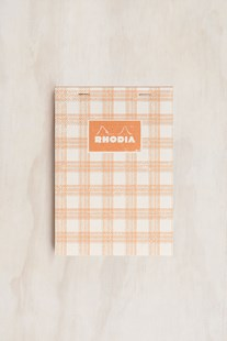 Rhodia - Heritage Notepad - Grid - A5 - Tartan White - Notebooks & Journals Notebook - Grid