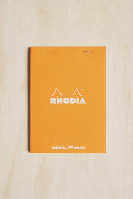 Rhodia - Pad #16 - Top Stapled - Dot Grid - A5 - Orange