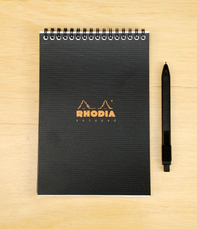 Rhodia - 'Rhodiactive' Wire Bound Pad - Ruled - A5 - Black