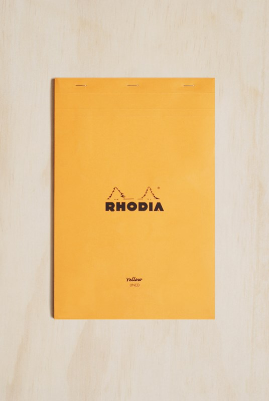 Rhodia - Pad #19 - Legal Pad - Top Stapled - Ruled + Margin - A4+ - Orange