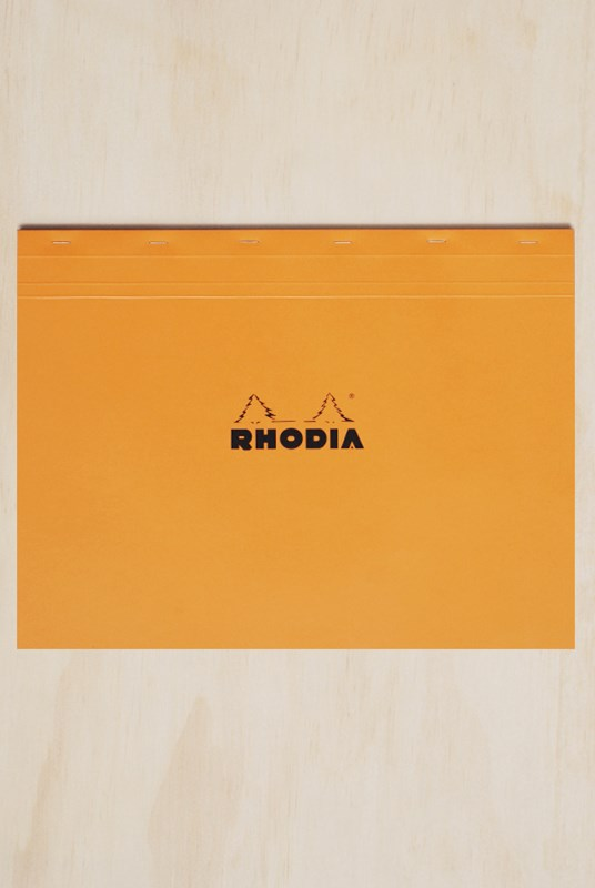 Rhodia - Pad #38 - Top Stapled - Landscape - 5x5 Grid - A3 - Orange