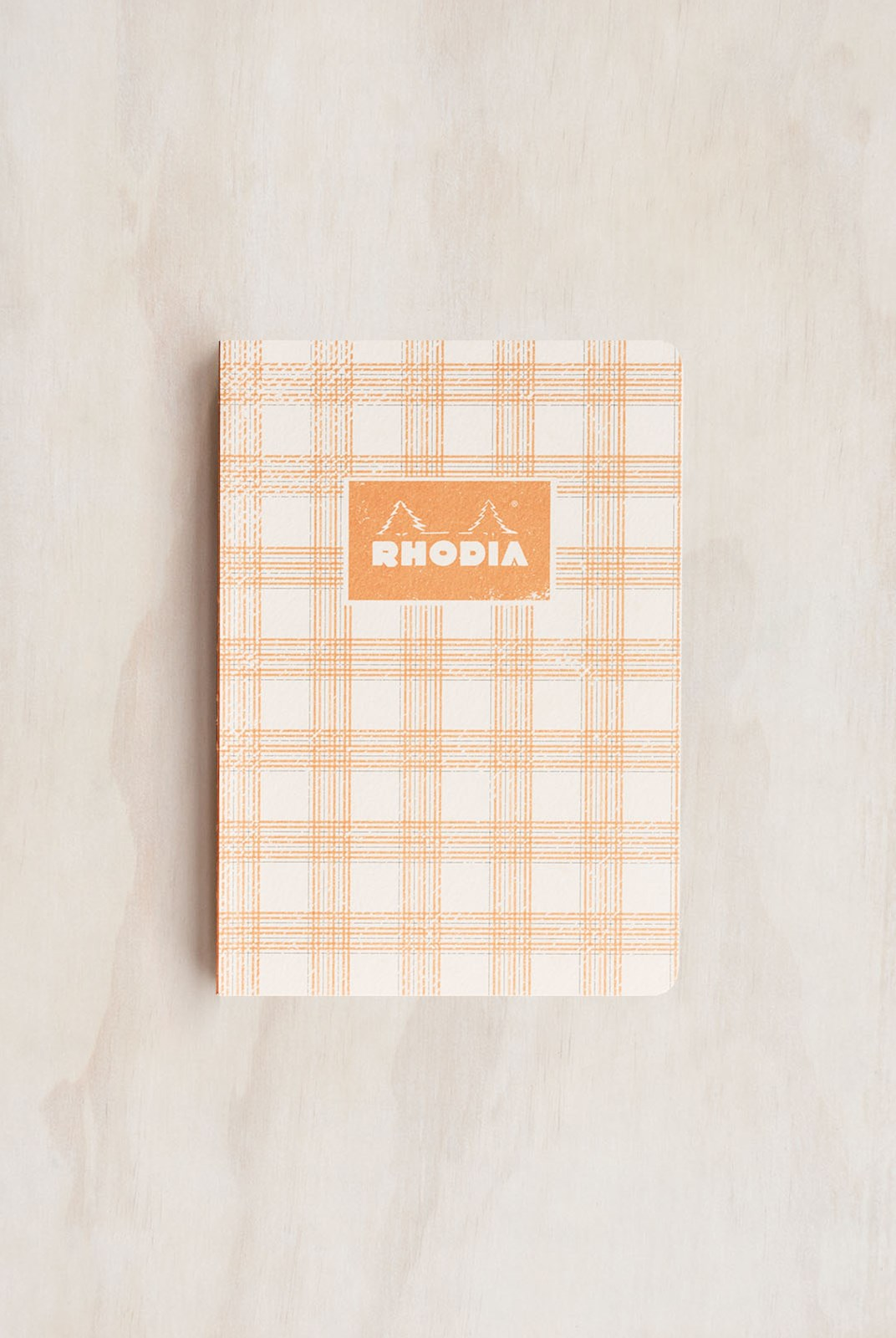 Rhodia - Heritage Notebook - Raw Bind - Grid - A5 - Tartan White