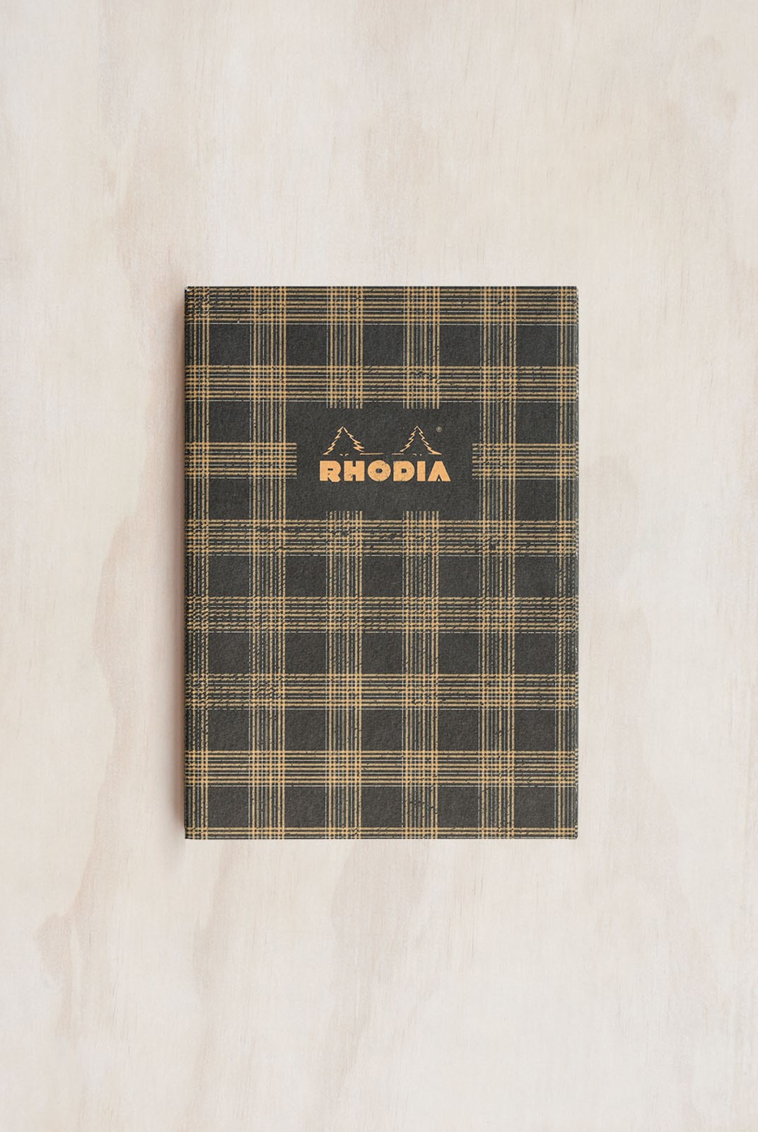 Rhodia - Heritage Notebook - Sewn Spine - Ruled - A5 - Tartan Black