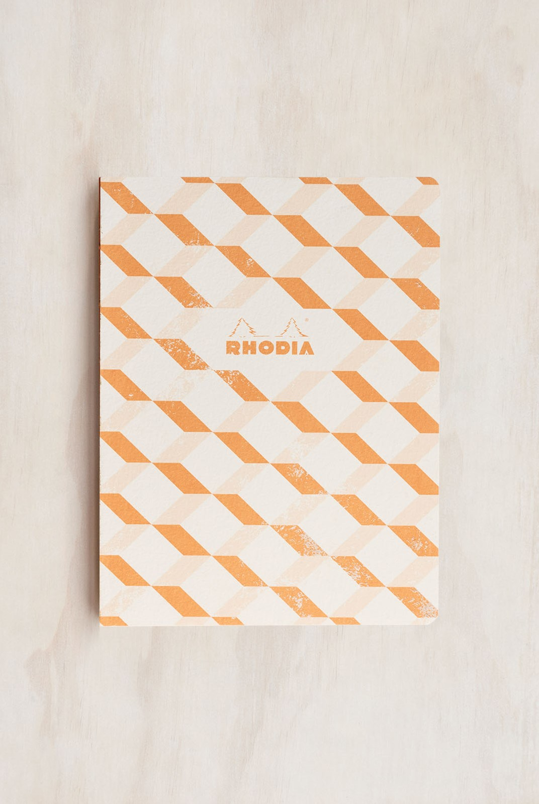 Rhodia - Heritage Notebook - Raw Bind - Grid - B5 - Escher White
