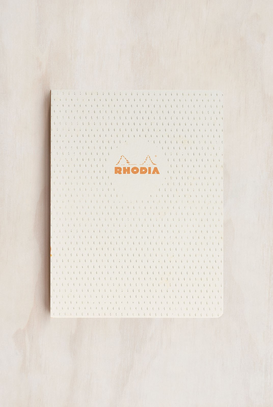 Rhodia - Heritage Notebook - Raw Bind - Grid - B5 - Moucheture White