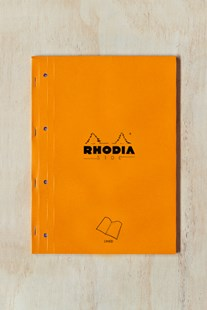 Rhodia - Pad #18 - Side Stapled Notebook - RLD - A4+ ORG - Notebooks & Journals Notebook - Ruled