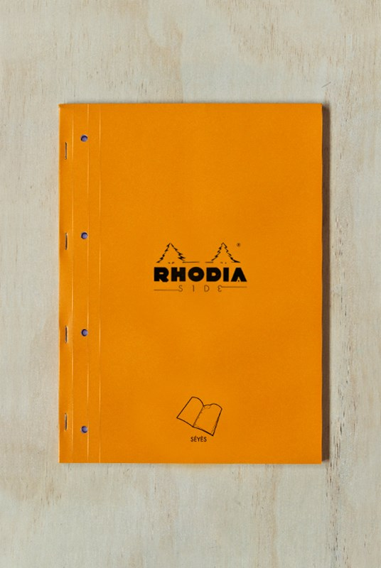 Rhodia - Pad #18 - Side Stapled Notebook - Seyes - A4+ - Orange