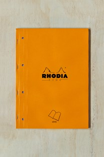 Rhodia - Pad #18 - Side Stapled Notebook - Seyes A4+ ORG - Notebooks & Journals Notebook - Seyes