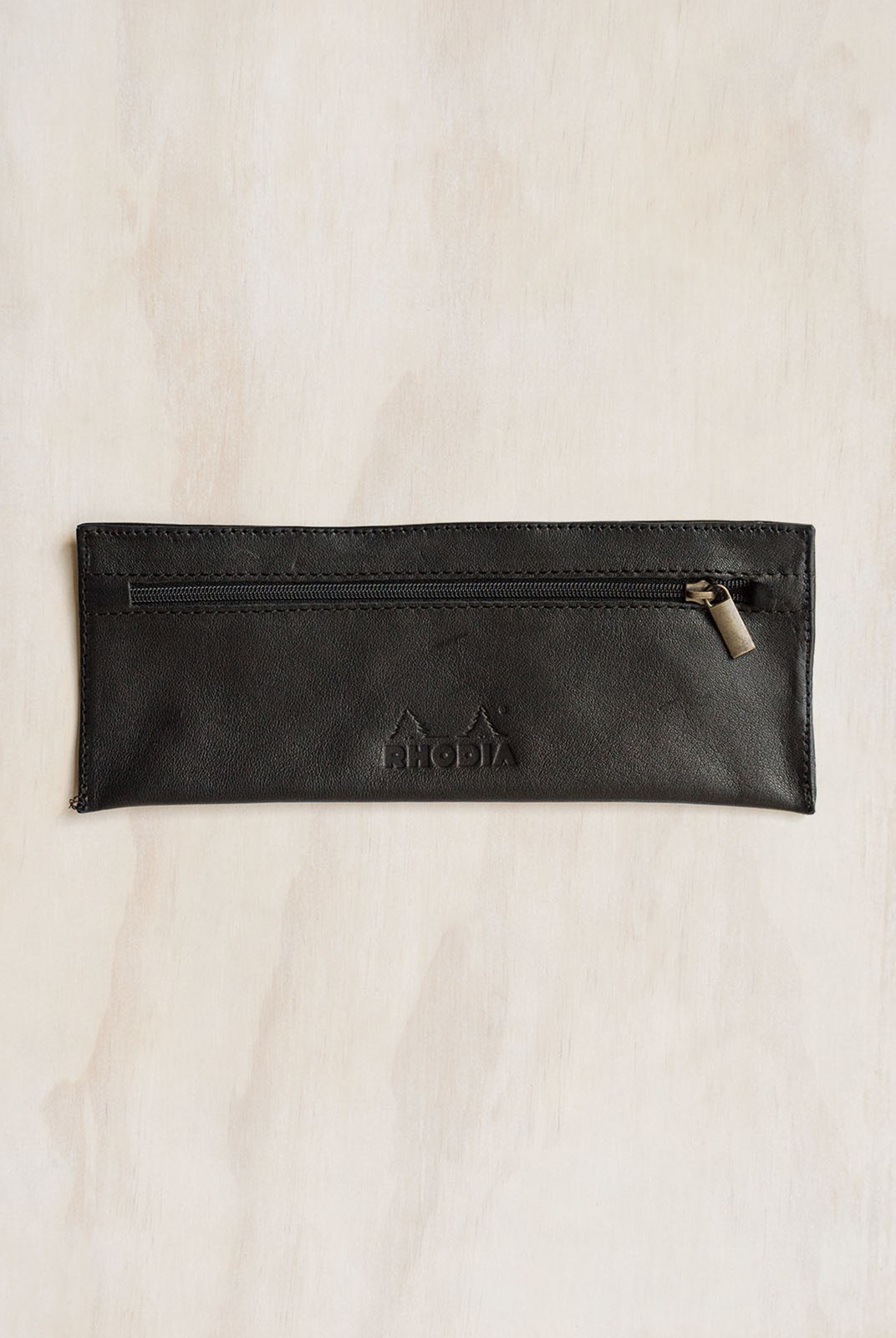 Rhodia - Leather Pencil Case Black