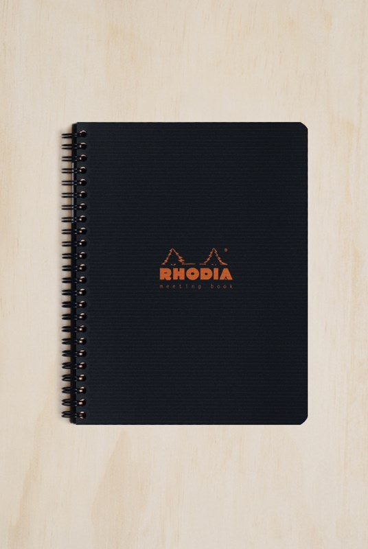 Rhodia - Meeting Book - A5 - BLK