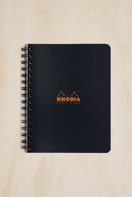 Rhodia - Office Exabook Refill - Ruled - A5 - Black