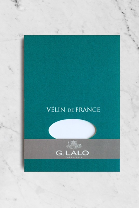 G. Lalo - Velin De France Pad - Plain - A5 - White