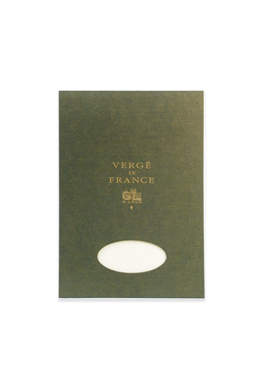 G. Lalo - Verge Laid Finish Pad - Plain - A4 - 25% Cotton - Champagne