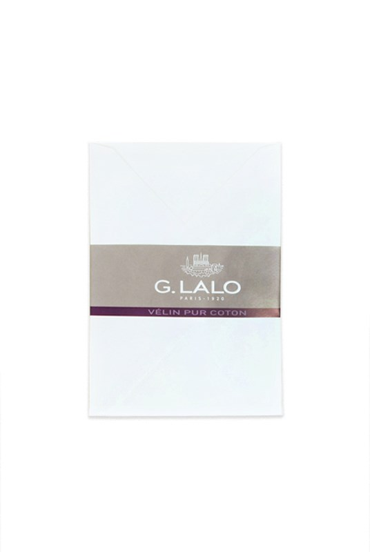 G. Lalo - Pack of 20 Velin Pur Coton C6 Envelopes - White