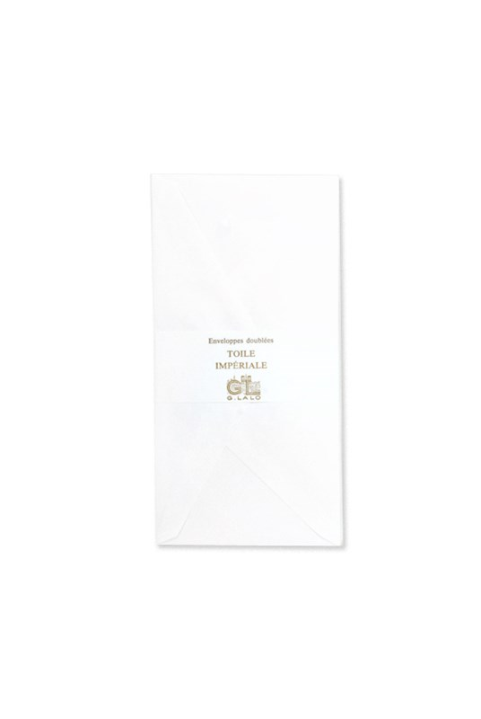 G. Lalo - Pack of 20 Toile Imperiale DL Envelopes - White