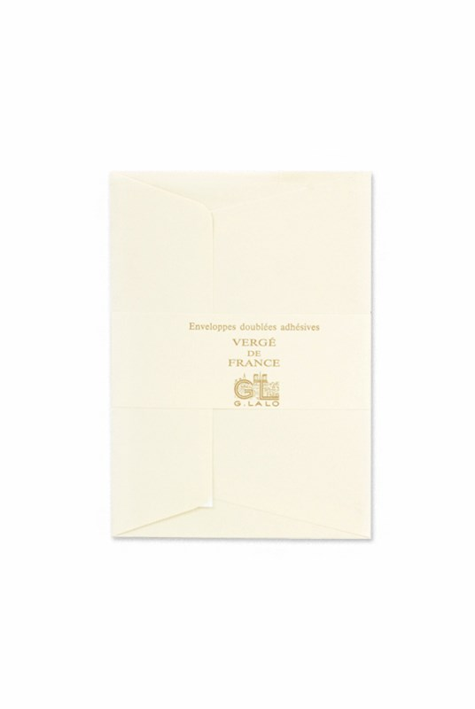 G. Lalo - Pack of 25 Verge C6 Self-sealing Envelopes - Tissue Lining - Champagne