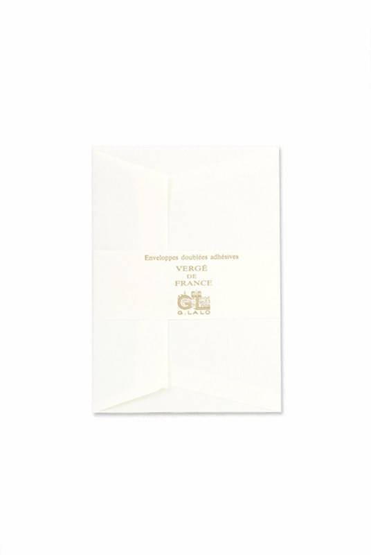 G. Lalo - Pack of 25 Verge C6 Self-sealing Envelopes - Tissue Lining - Ivory