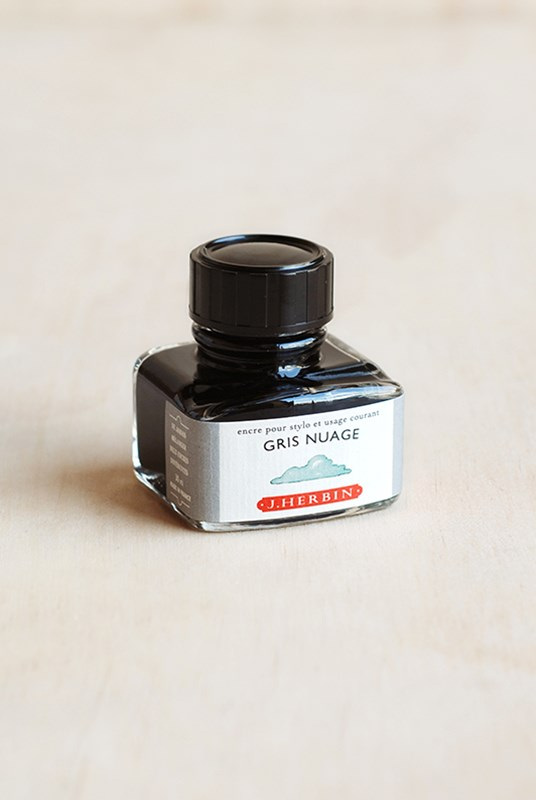 J. Herbin - Fountain Pen Ink - 30ml Bottle - Cloudy Grey (Gris Nuag)