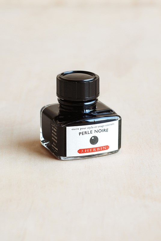 J. Herbin - Fountain Pen Ink - 30ml Bottle - World's First Black Ink (Perle Noire)