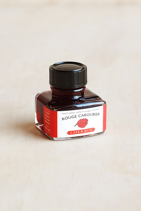 J. Herbin - Fountain Pen Ink - 30ml Bottle - Imperial Red (Rouge Caroubier)