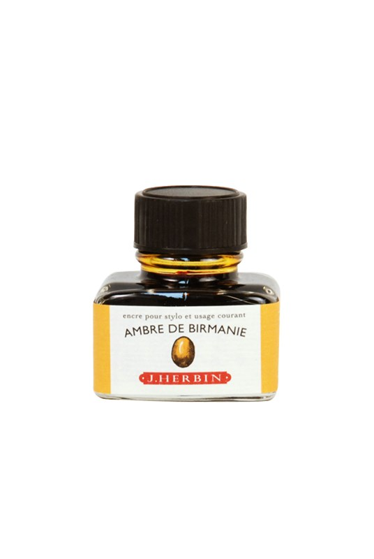 "J. Herbin Bottle Ink, ""Ambre De Birmanie"" = Ambre"