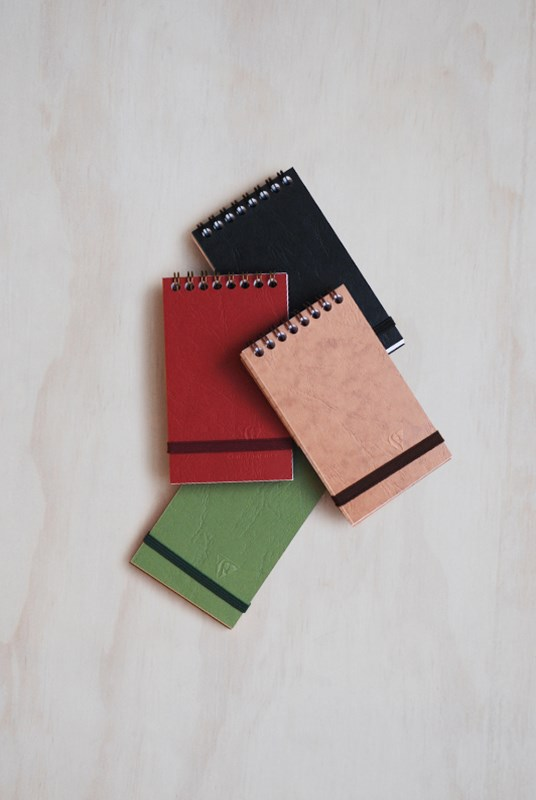Clairefontaine - Reporter Pad - Ruled - Mini - Hard Cover - Assorted Colours