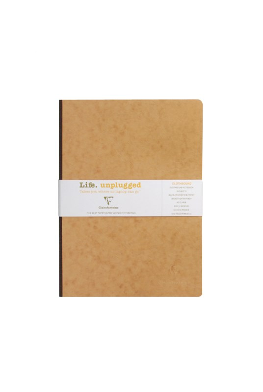 Clairefontaine - Clothbound Notebook RLD A4 Tobacco