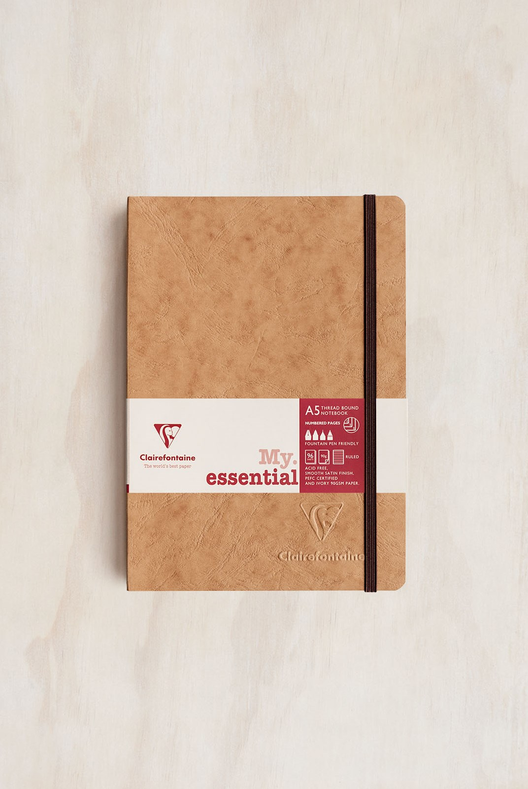 Clairefontaine - Thread-bound Notebook RLD A5 Tobacco