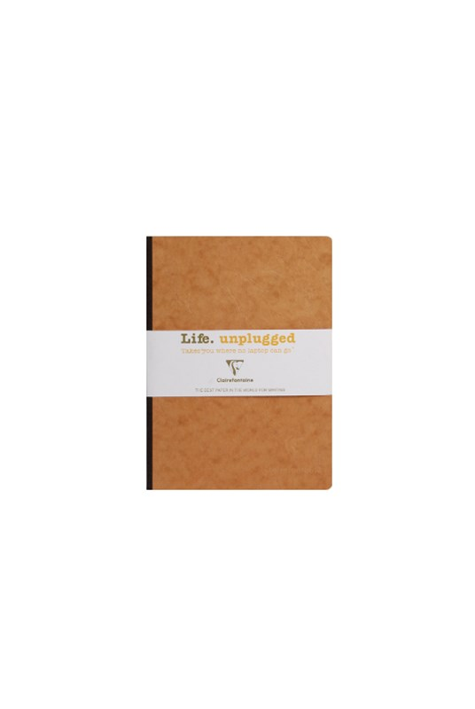 Clairefontaine - Clothbound Notebook - Ruled - A5 - Tobacco