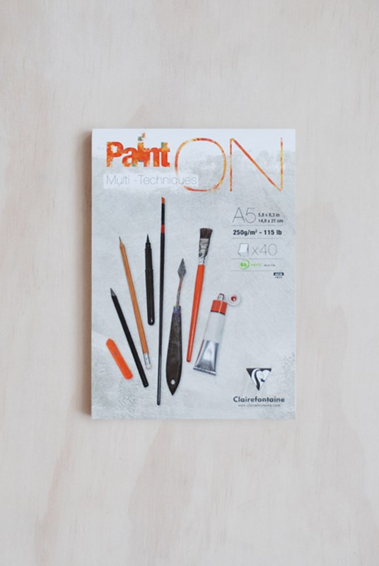 Clairefontaine - Paint'On 250gsm Art Pad - Plain - A5 - White