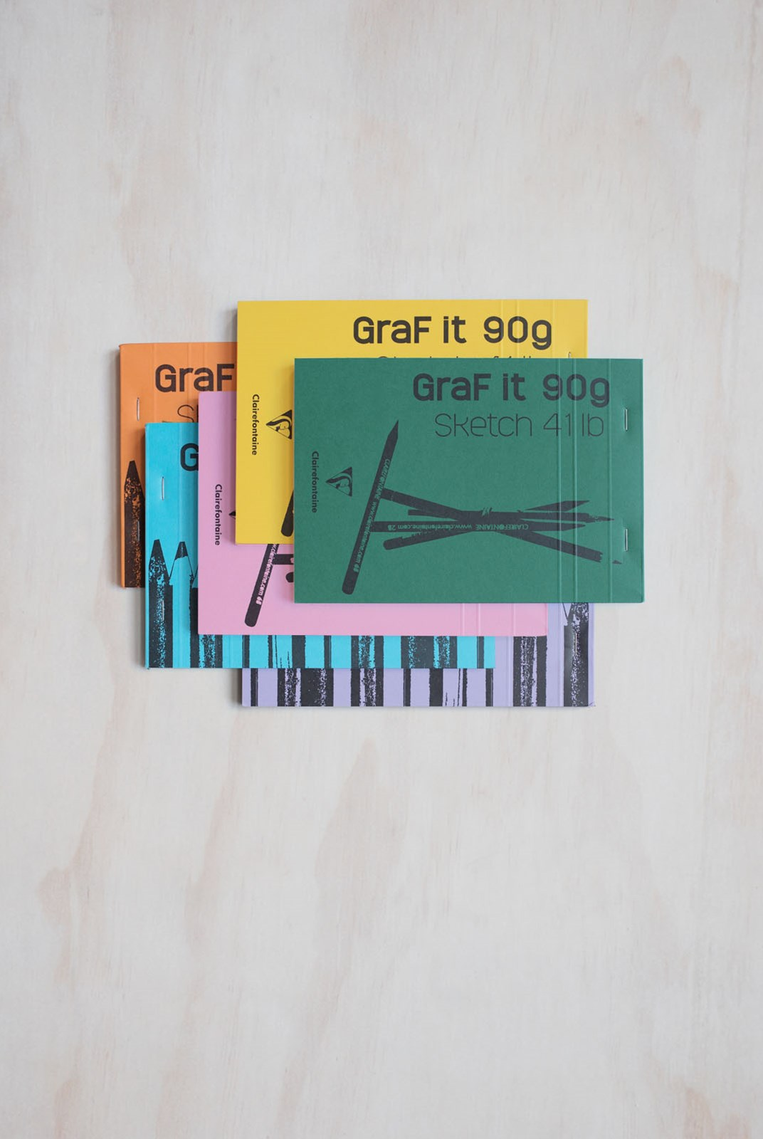 Clairefontaine - GraF it 90gsm Sketchbook - Plain - A5 - Assorted Colours