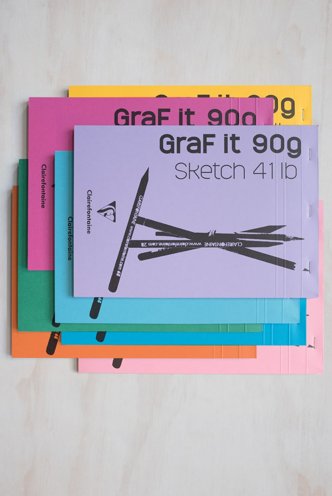 Clairefontaine - GraF it 90gsm Sketchbook - Plain - A4 - Assorted Colours
