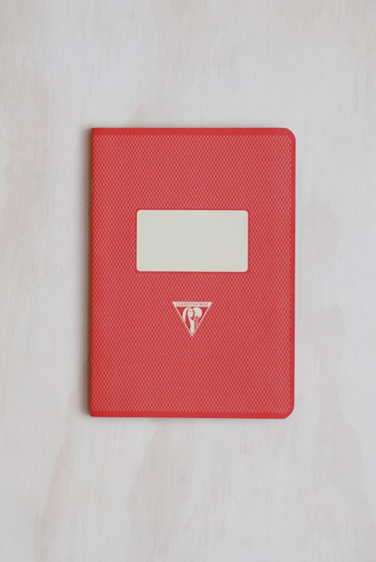 Clairefontaine - '1951' Stapled Notebook - Ruled - A5 - Red