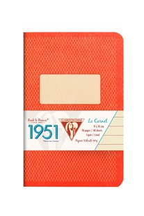 Clairefontaine - '1951' Stapled Notebook - Ruled - Pocket - Red - Notebooks & Journals Notebook - Ruled