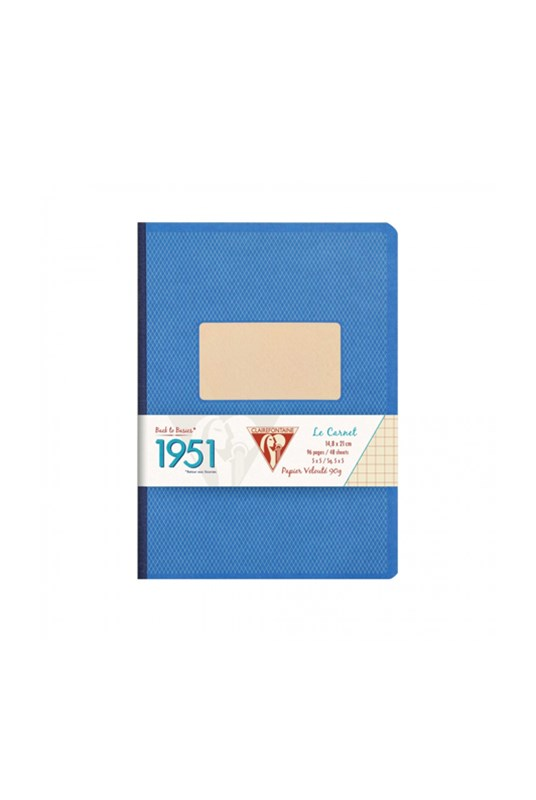 Clairefontaine - '1951' Clothbound Notebook - Ruled - A5 - Blue