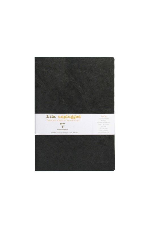 Clairefontaine - Stapled Twin Set Notebooks RLD A4 Black