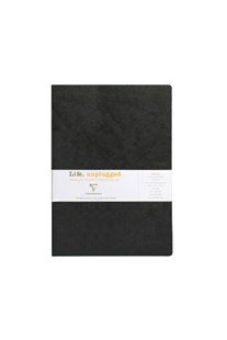 Clairefontaine - Stapled Twin Set Notebooks RLD A4 Black - Notebooks & Journals Notebook - Ruled