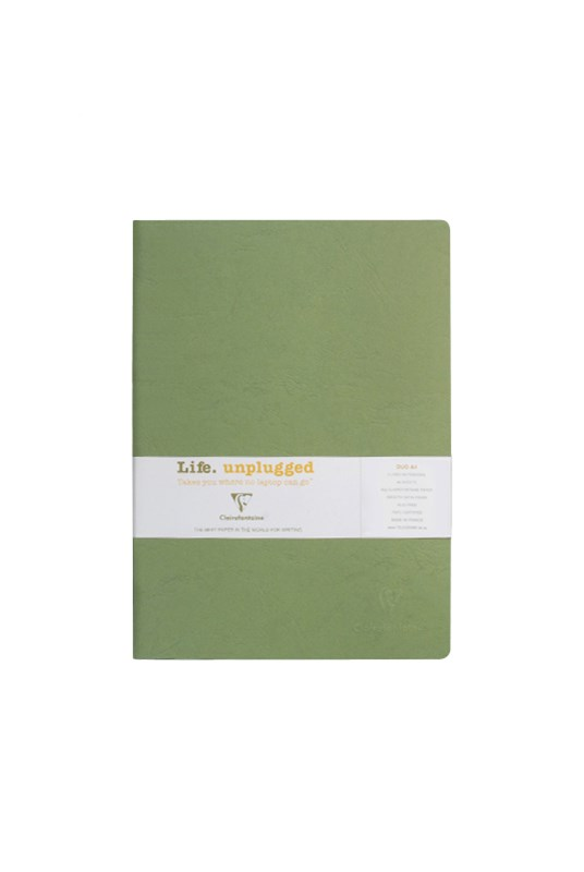 Clairefontaine - Stapled Twin Set Notebooks - Ruled - A4 - Green