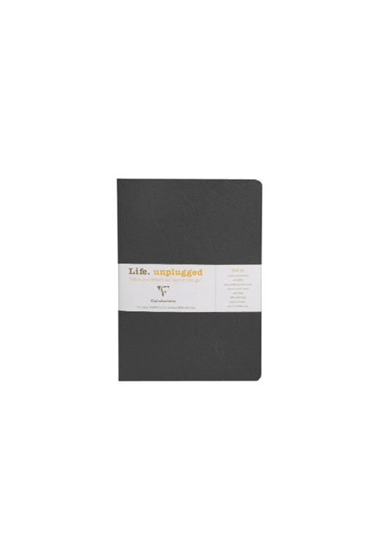 Clairefontaine - Stapled Twin Set Notebooks - Ruled - A5 - Black