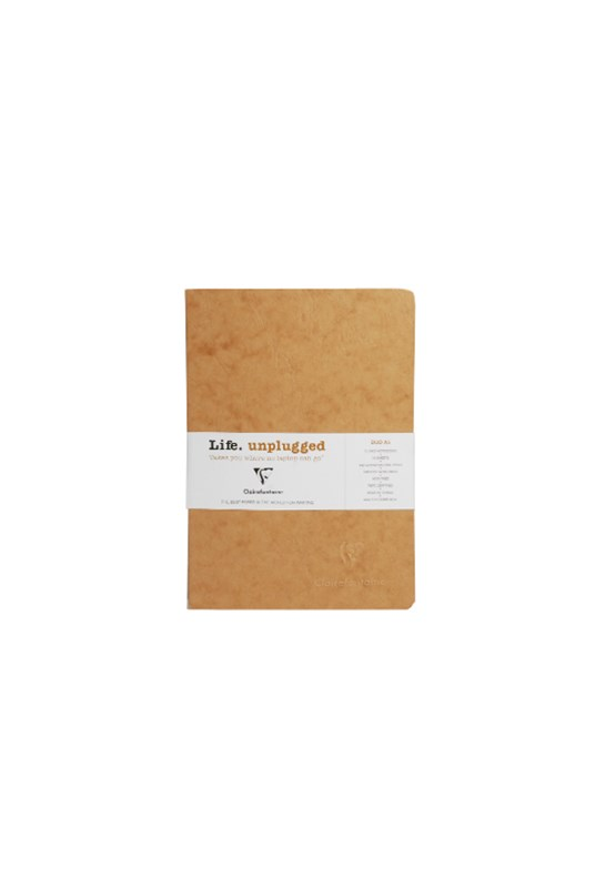 Clairefontaine - Stapled Twin Set Notebooks - Ruled - A5 - Tobacco