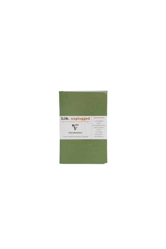 Clairefontaine - Stapled Twin Set Notebooks - Ruled - Pocket - Green