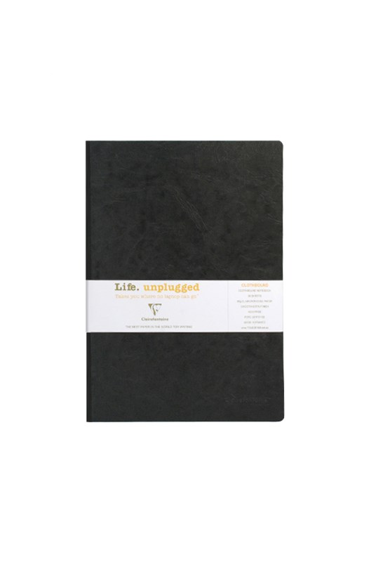 Clairefontaine - Clothbound Notebook - Plain - A4 - Black