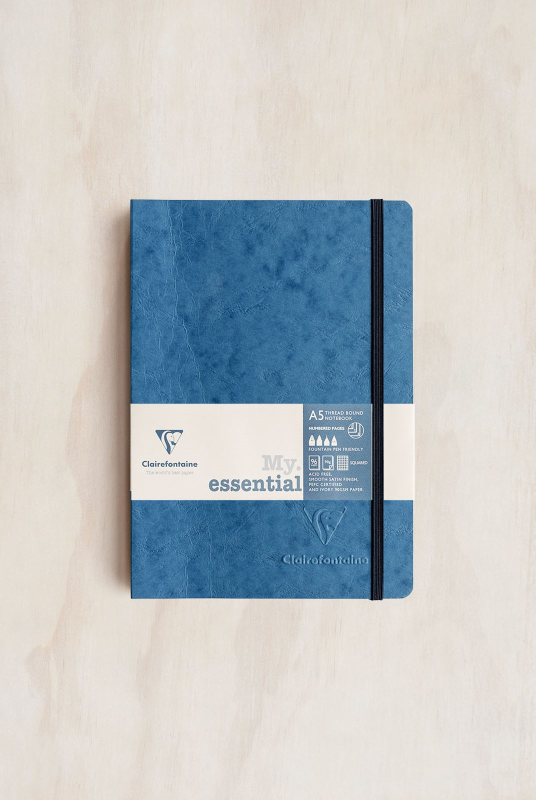 Clairefontaine - Thread-bound Notebook - Grid - A5 - Blue