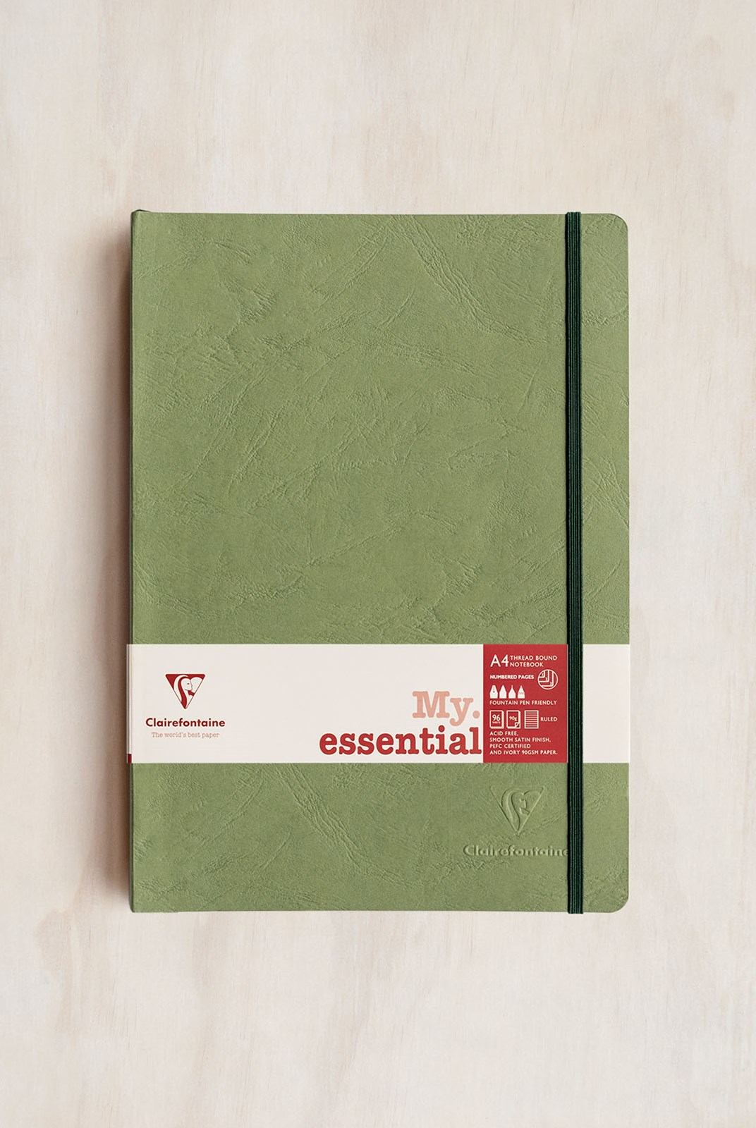 Clairefontaine - Thread-bound Notebook - Ruled - A4 - Green