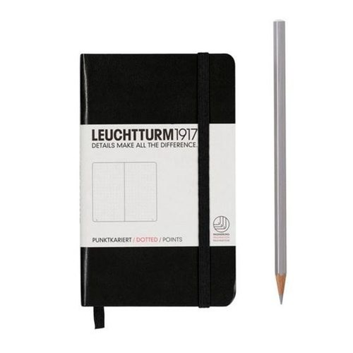 A6 Notebook Black Pocket Dotted H/C