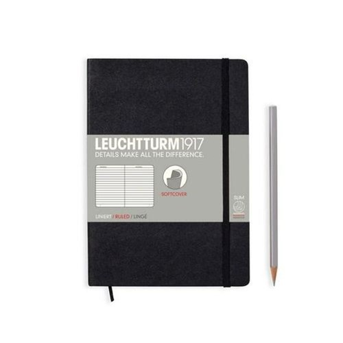 A5 Notebook Softcover Black Ruled