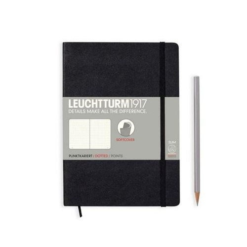 A5 Notebook Softcover Black Dotted