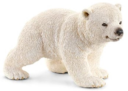 Schleich - Polar Bear Cub Walking - Children's Toys & Games Figures & Dolls